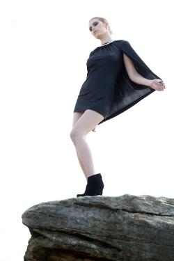 FADDOUL 'Wanderer Cape Dress