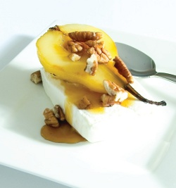 Pecan Crumble Topped Pears