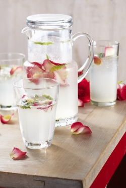Queen Fine Foods Rosewater and Mint Mocktail